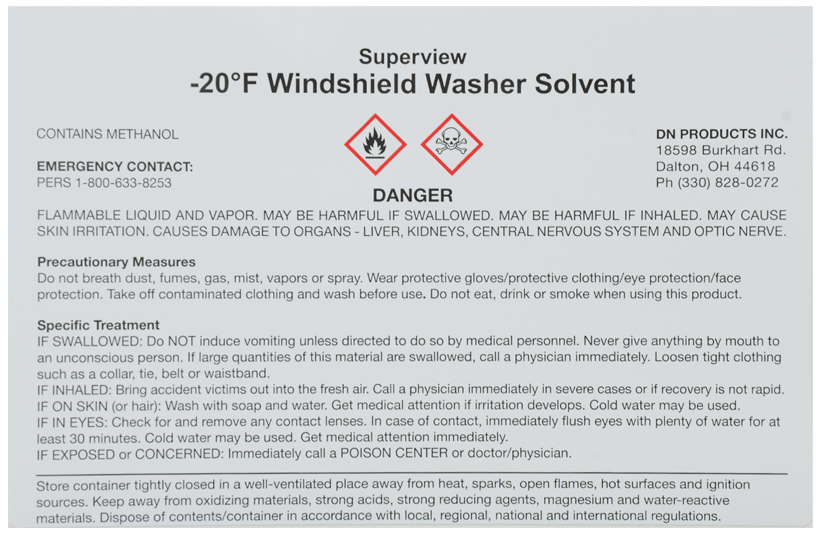 DN Products Windshield Washer Solvent