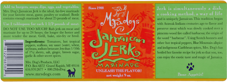 Mr. dog' s Jamaican Jerk