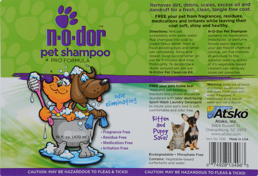 HPet Shampoo Product Labels 01