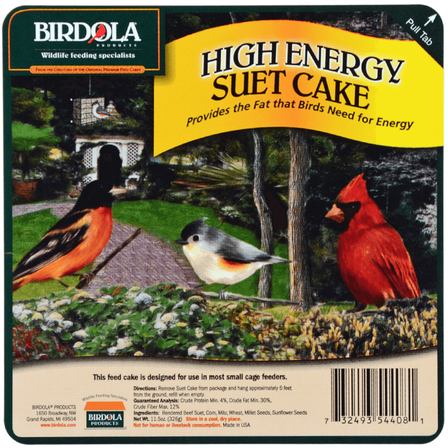 Suet Cake Product Label 01