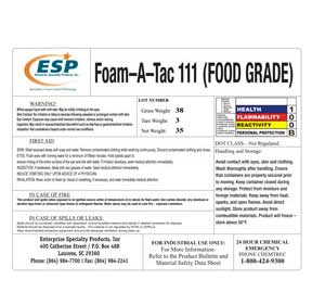 chemical-foam-a-taclabel